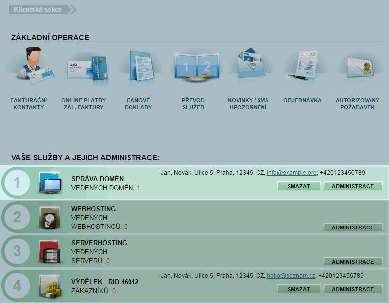 Nastavení DNS pro Web4u