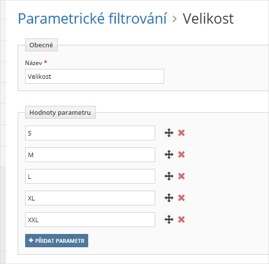 Parametrické filtrování